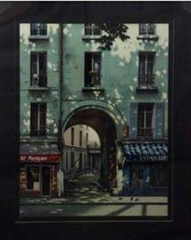 "Thomas Pradzynski Serigraph, ""Le Grande Arche"""