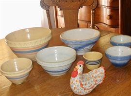 Just a sample of some of the stoneware bowls available at this sale.