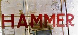 """Advertising Sign """"HAMMER"""" from the Auto Store Co."""