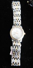 Omega 6504/ 838 De Ville Prestige Steel/ 18K/ Diamond dial ladies watch