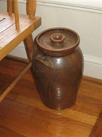 Catawba Valley pottery churn