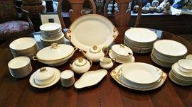 Gorgeous Limoges porcelain dinnerware set - Wm Guerin & Co. c1900