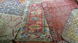 5 collectible 19th century rugs-lovely Caucuses pieces including Daghestan yellow background prayer rug