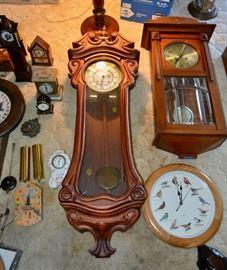 Several Wall Clocks