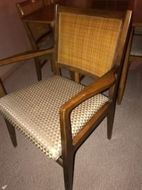 Stunning mid-century modern dining room table and set of six chairs