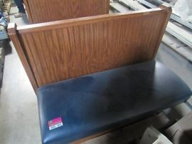 48'' Wooden Double Sided Vinyl Padded Booth Seatin ...