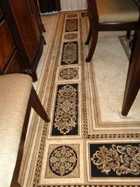 area rug under dining table