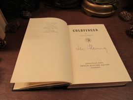 Goldfinger, 1st Edition, Publisher: Jonathan Cape, London. Missing Dust Jacket and signature is not authentic.