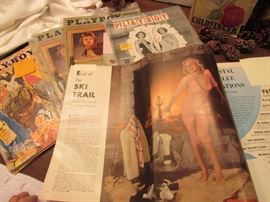 Select Playboys and original Popular Photography Anniversary Edition featuring Marilyn Monroe