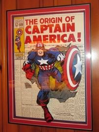 Captain America in 3-D , commissioned work by Traci Henson