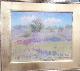 Impressionistic field of bluebonnets by Beth Eidelberg. Approx. 16 x 20 - $650