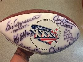 super bowl xxxvi signed football