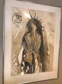 Lithograph by Salvador Daly- numbered