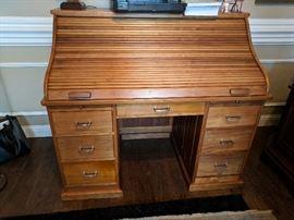 Black Walnut Rolltop Desk