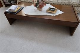 Founders matching  coffee table and two end tables.