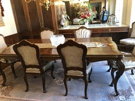 Dining room set with with 8 chairs