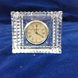 Clock set in Waterford crystal mount
