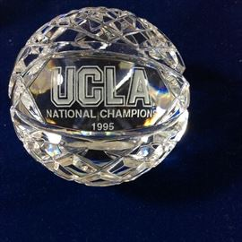 Waterford Crystal basketball to commemorate UCLA 1995 National Championship.