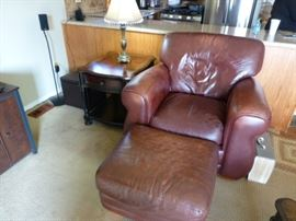 leather chair 175.00 or best offer