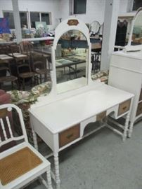 Painted vanity and chair