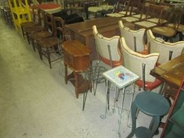 Miscellaneous chairs and furniture items
