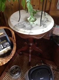 Marble Top Tea Table $ 70.00
