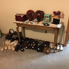 Shoes, sofa table