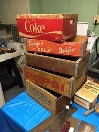 Vintage Cola crates