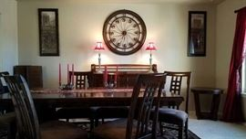 Contemporary Formal Dining Set and Buffet