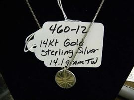14kt Gold & Sterling Silver Jewelry
