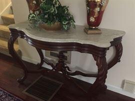 Closeup of Hall Table