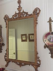 Gilded and bevelled Mirror