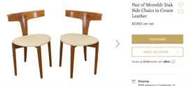 Same Chairs on 1stBids, 2 for $3950!