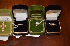 14k Rings w/ Opals