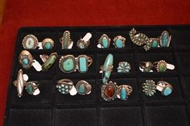 SOME of the turquoise rings