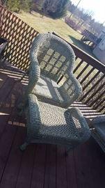 $125  Wicker chair & footstool