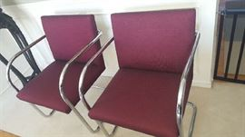 Knoll chairs $250 each  signed under chrome arm