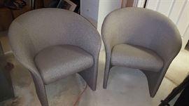 $75  each   grey/half moon chair