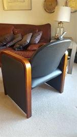 $150  Protocol black chair/wood trim