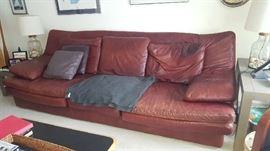 $50  Leather sofa (as is)