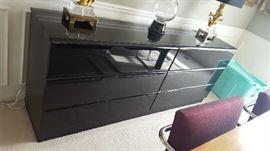 $125  Black laquer cabinet/credenza