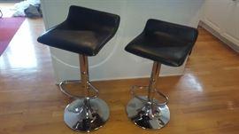 $45  Black stools with chrome base