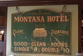 Original sign for hotel built in 1909!