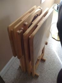 Wood Tray Set $ 40.00