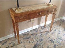 Marble Insert Foyer Table $ 140.00
