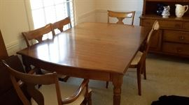 Haywood and Wakefield dining room set china cabient and dining room table with 6 chairs MCM/Vintage