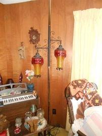 Retro pole lamp