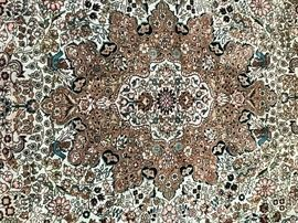 silk rug close-up