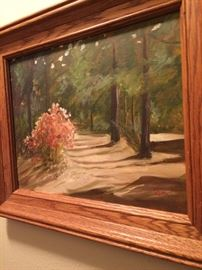 Framed oil, Country path
