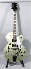 Gretsch G5420T Electromatic F-Hole Hollowbody Electric Guitar with Factory Case, Aspen Green, Bagsby Tail Piece